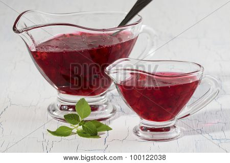 Red Currant Jam Two Bowls