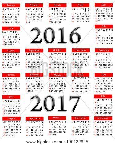 Calender 2016, 2017
