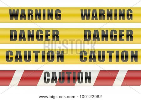 Set Of Security Warning Tapes