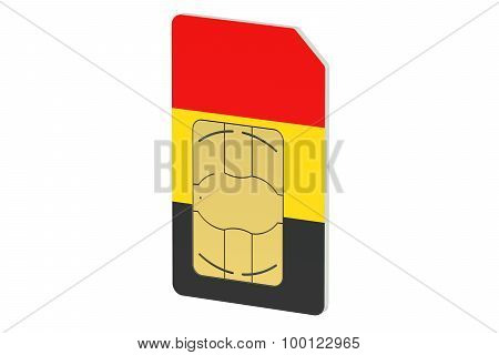 Sim Card With Flag Of Germany