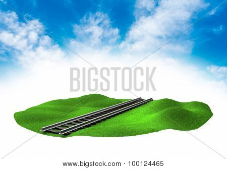 Land With Rail In The Sky