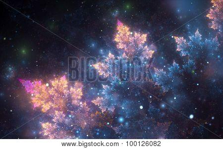 Blue-golden Cosmic Pattern