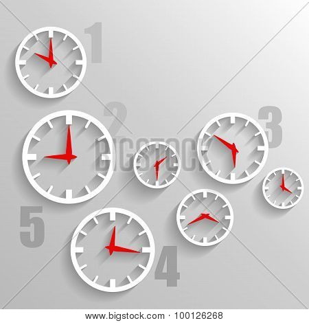 Paper Watch Dials, 3D Graphic Technology Background