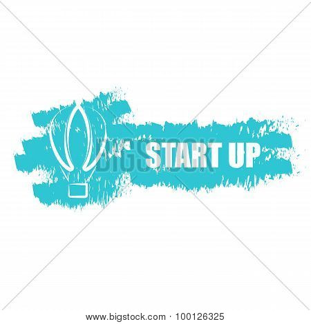 Start Up Business, Air Baloon Idea Logo Transport Company