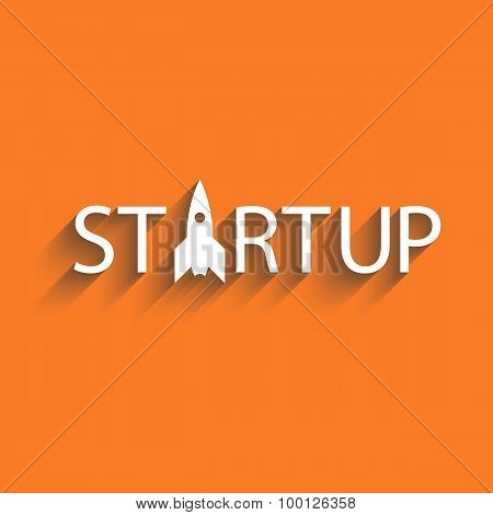 Start up new business project or idea, startup presentation poster background