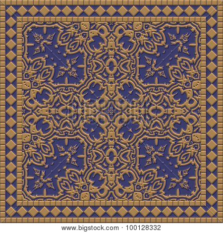 Decorative Tile Generated Texture