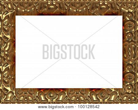 Frame In Baroque Style Generated Texture