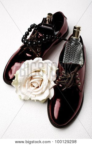 Stylish Claret Shoes And Accessories