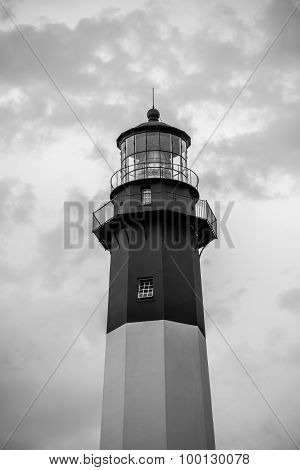 Tybee Island Light With Storm Approaching