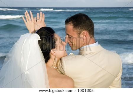 Caribbean Beach Wedding - The Rings