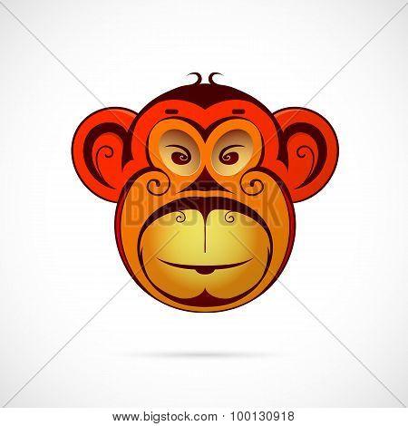 Monkey cartoon as symbol for year 2016