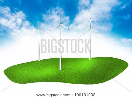 Land With Turbines In The Sky