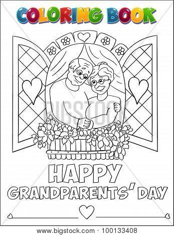 Coloring Book Grandparents Day