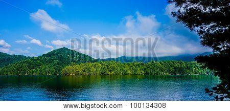 Lake Santeetlah Scenery In Great Smoky Mountains
