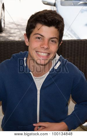 Portait Of A Young Man,  Teenager Smiling
