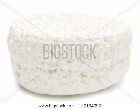 Curd cottage cheese isolated over white