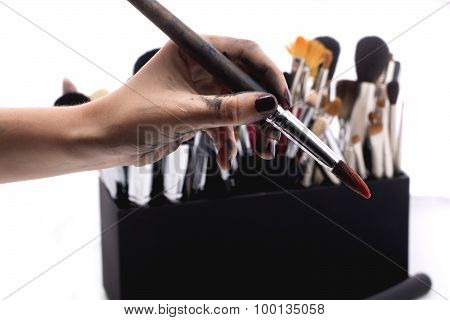 Set Of Make-up Brushes