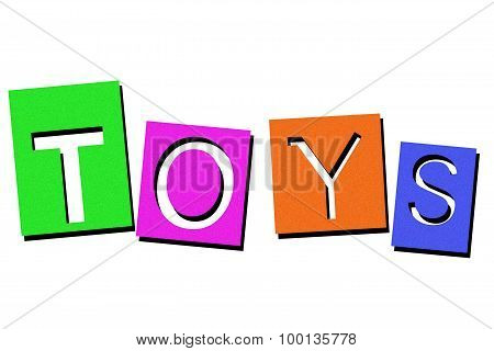 Image of the word toy