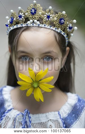 Princess With Yellow Flower
