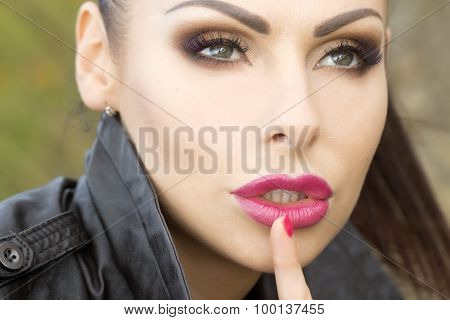 Woman With Hush Gesture