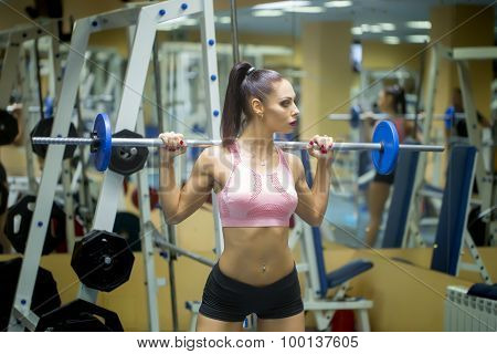 Brunette Woman In Gym
