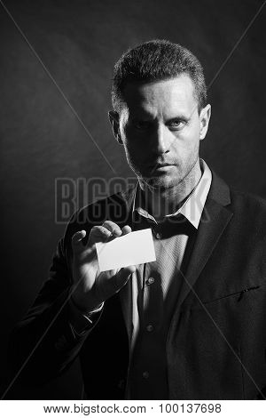 Attractive Man With Card