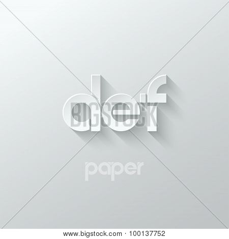 letter D E F logo alphabet icon paper set background