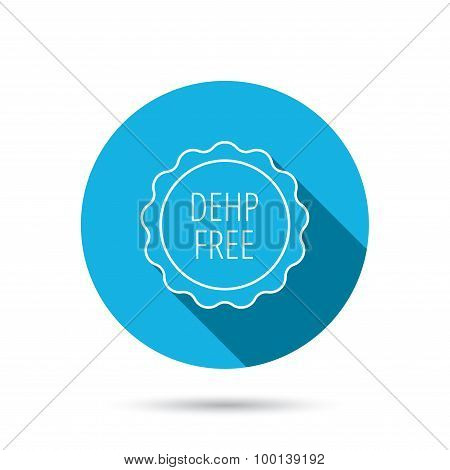DEHP free icon. Non-toxic plastic sign.