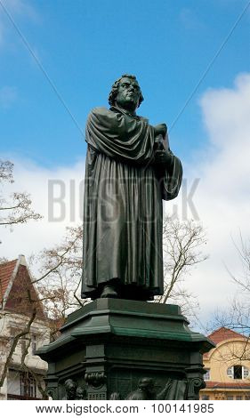 Monument Of Martin Luther, Eisenach, Germany