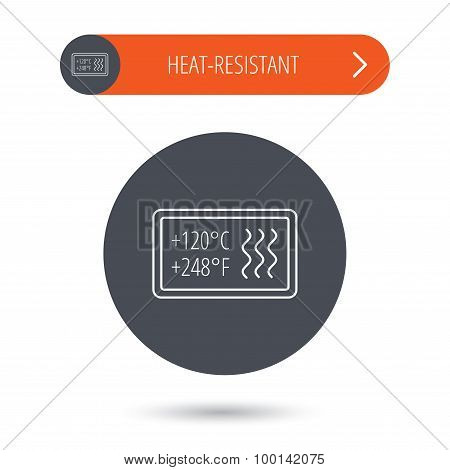 Heat resistant icon. Microwave, dishwasher info.