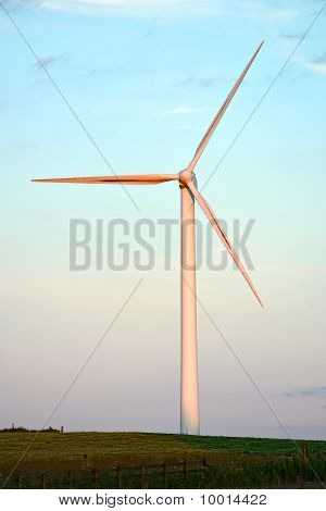 Wind Turbine At Dun Law Wind Farm, At The Western End Of The Lammermuir Hills, At The Boundaries Of