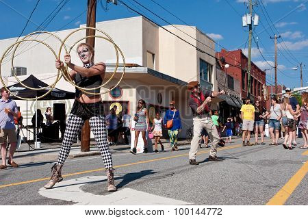 Street Performers Entertain People At Atlanta Festival