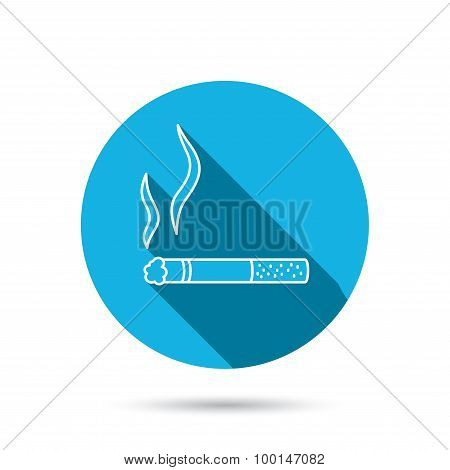 Smoking allowed icon. Yes smoke sign.
