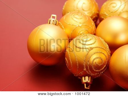 Christmas Golden Baubles
