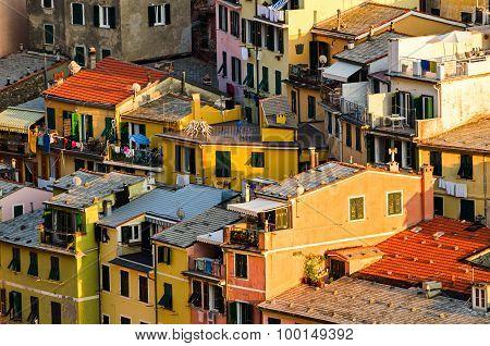 Vernazza, Cinque Terre (italian Riviera, Liguria), Houses Detail