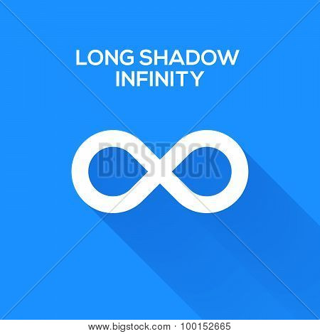 infinity symbols with long shadow