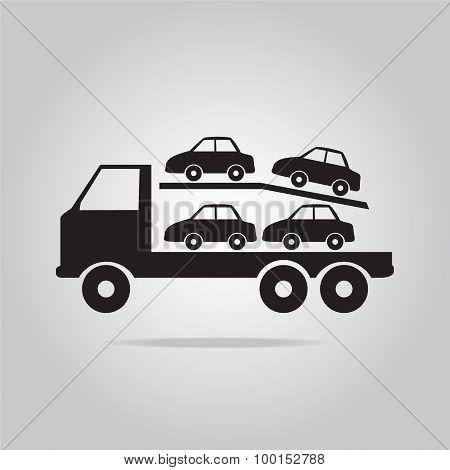 Trailer Truck Symbol Illustration
