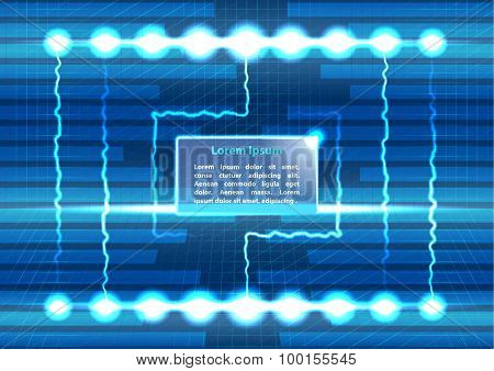 Abstract background with lighting and text place