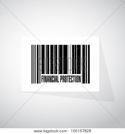 Financial Protection Barcode Sign Concept