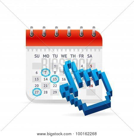 Calendar Business Concept. Vector