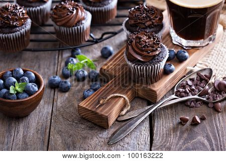 Coffee and chocolate cupcakes