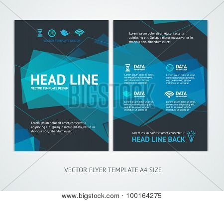 Flyer Design Templates Abstract Geometric Wave. Vector