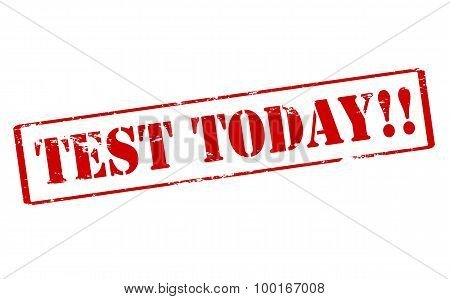 Rubber stamp with text test today inside vector illustration