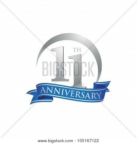 11th anniversary ring logo blue ribbon