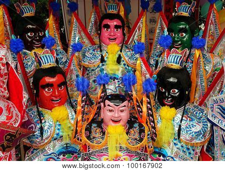 Colorful Masks For The Third Prince Festival In Taiwan