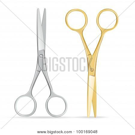 Scissors Set. Vector