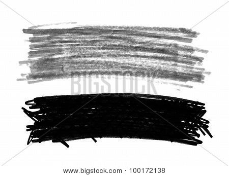 Felt Pen Doodle Scribbles Isolated On White Background