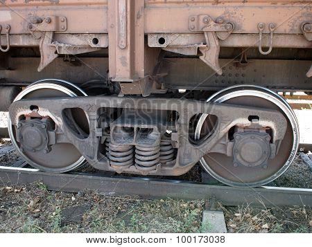 Detail Closeup Of A Railroad Car