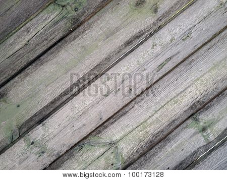 Detail Of An Old  Gray Wooden Fence