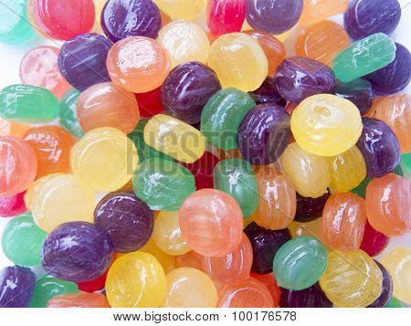 Tasty Children Background Of Colorful Candies